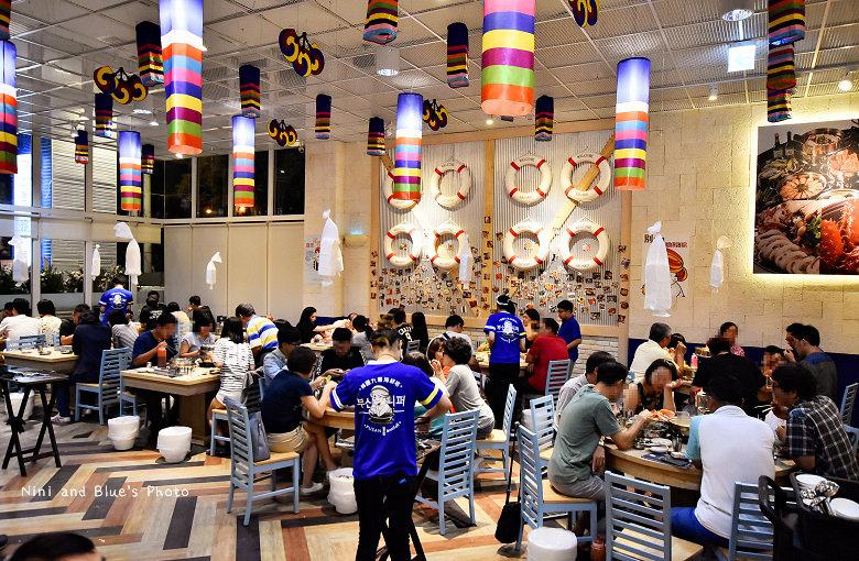 釜山珍妮佛台中韓式料理九層海鮮塔文心市政府43
