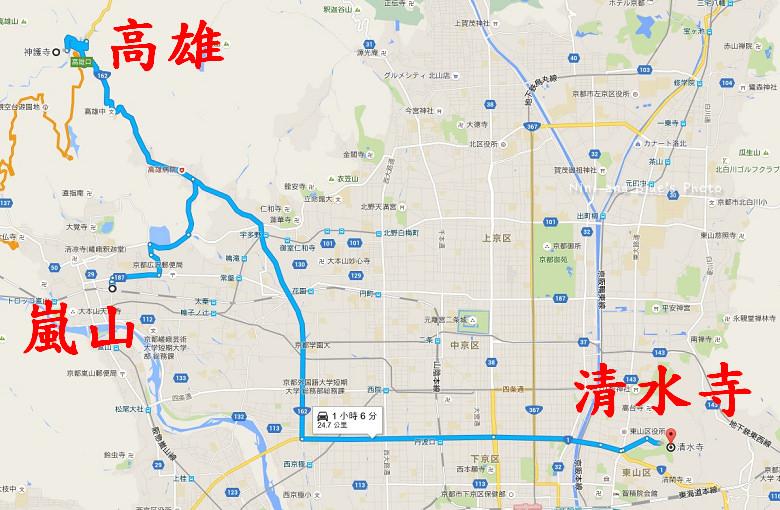 高雄嵐山清水寺地圖